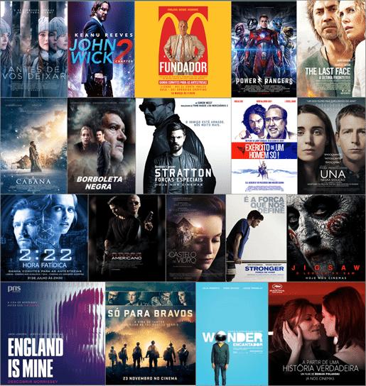 Retrospetiva Filmes de Cinema 2017